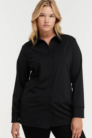 blouse Laila van travelstof zwart