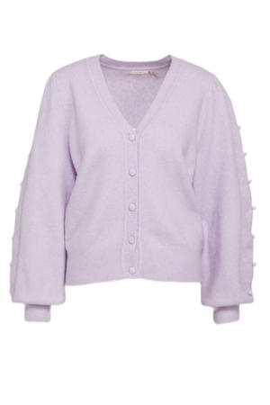 fijngebreid vest van gerecycled polyester lila
