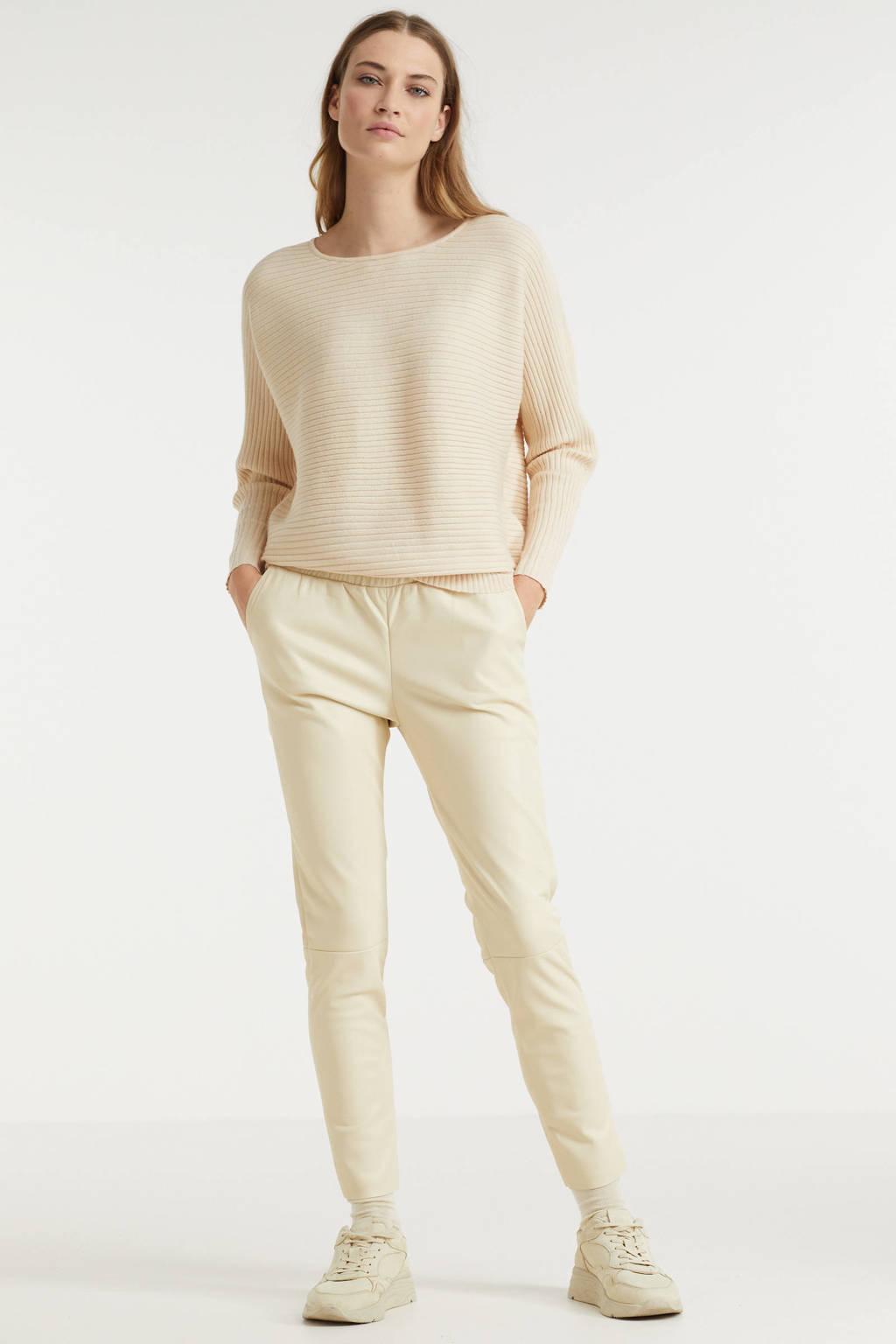 Esqualo trui met textuur beige, Beige