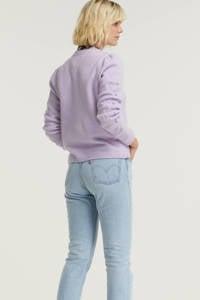Esqualo fijngebreide trui van gerecycled polyester lila, Lilac
