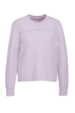 fijngebreide trui van gerecycled polyester lila