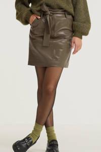 Esqualo rok Skirt short belt PU met ceintuur legergroen, Army Green