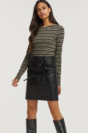 rok Skirt short belt PU met ceintuur zwart