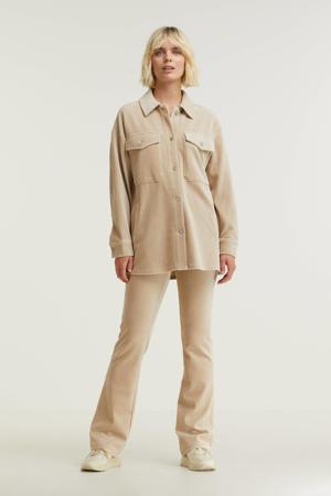 corduroy blouse beige