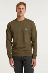 BOSS Casual sweater Westart olijfgroen, Olijfgroen
