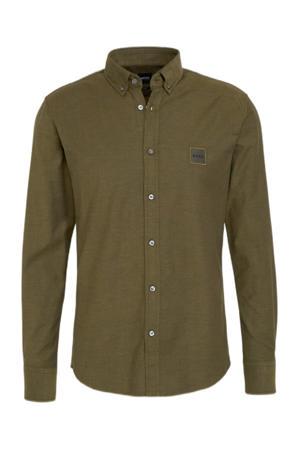 regular fit overhemd Mabsoot 308 dark green