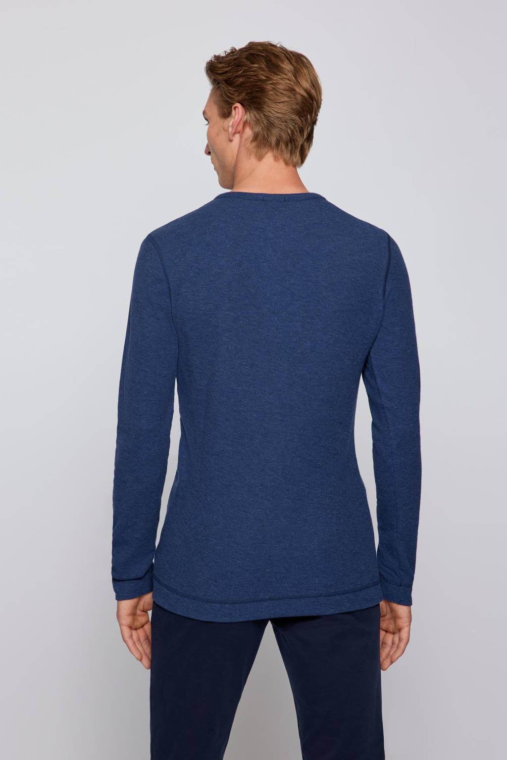 BOSS Casual fijngebreide longsleeve Trix donkerblauw, Donkerblauw
