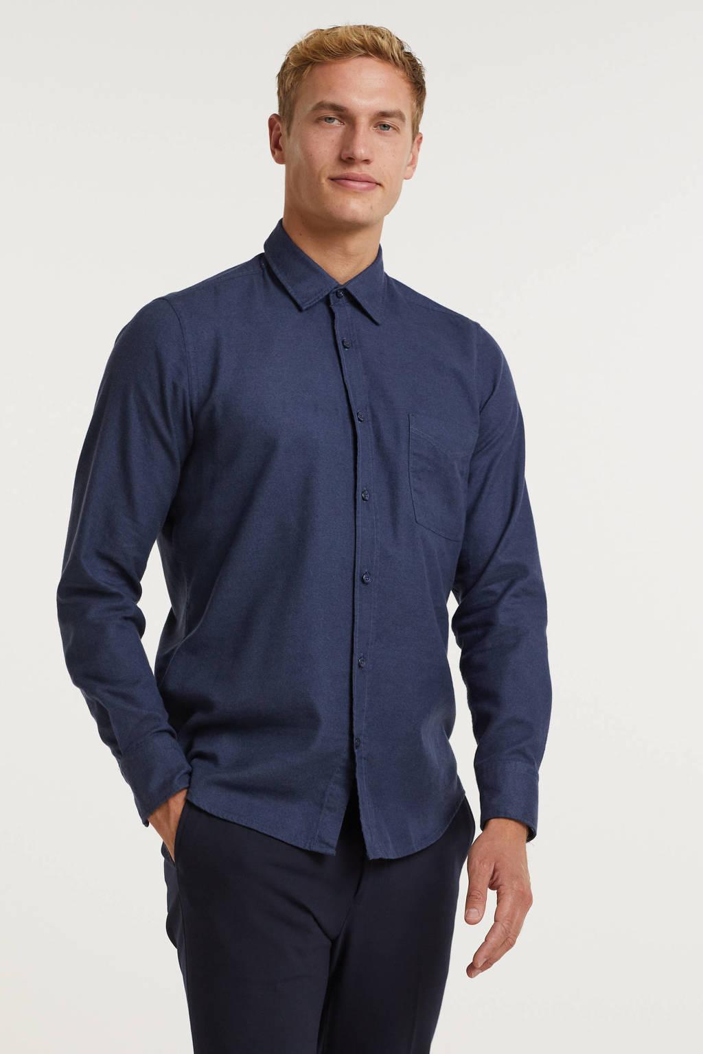 BOSS Casual regular fit overhemd Relegant 404 dark blue, 404 Dark Blue