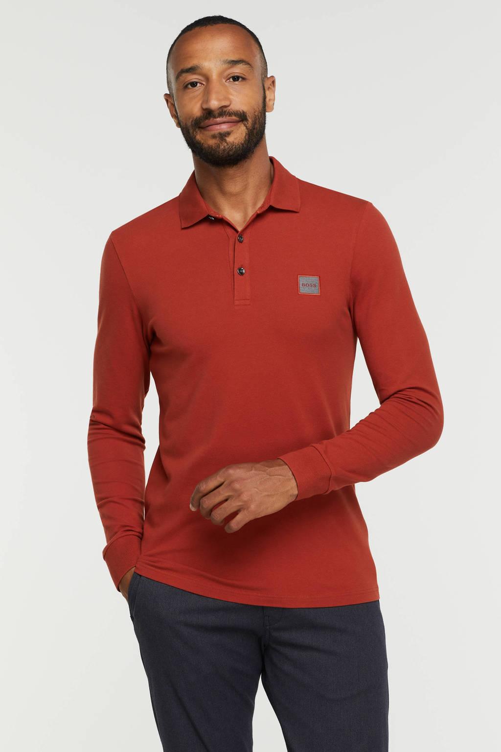 BOSS Casual polo Passerby 611 medium red, 611 Medium Red
