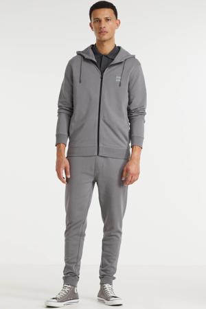 gemêleerde regular fit broek Sestart 029 dark grey