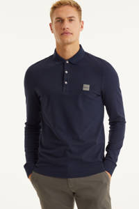 BOSS Casual polo Passerby donkerblauw, Donkerblauw