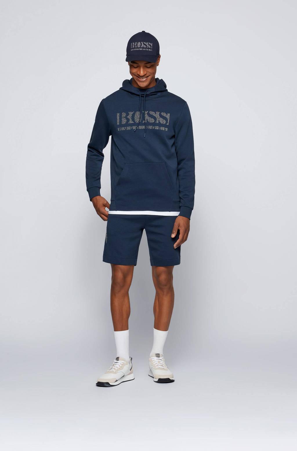 BOSS Athleisure hoodie Soody met logo 410 navy, 410 Navy