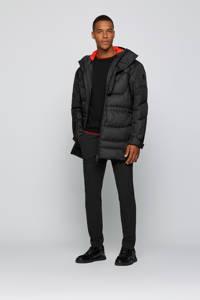 BOSS Athleisure trui Ritom met contrastbies zwart, Zwart