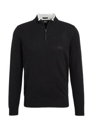fijngebreide wollen trui Barlo zwart