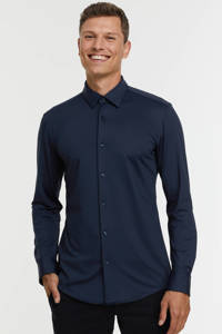 BOSS Menswear slim fit overhemd HANK 404 dark blue, 404 Dark Blue