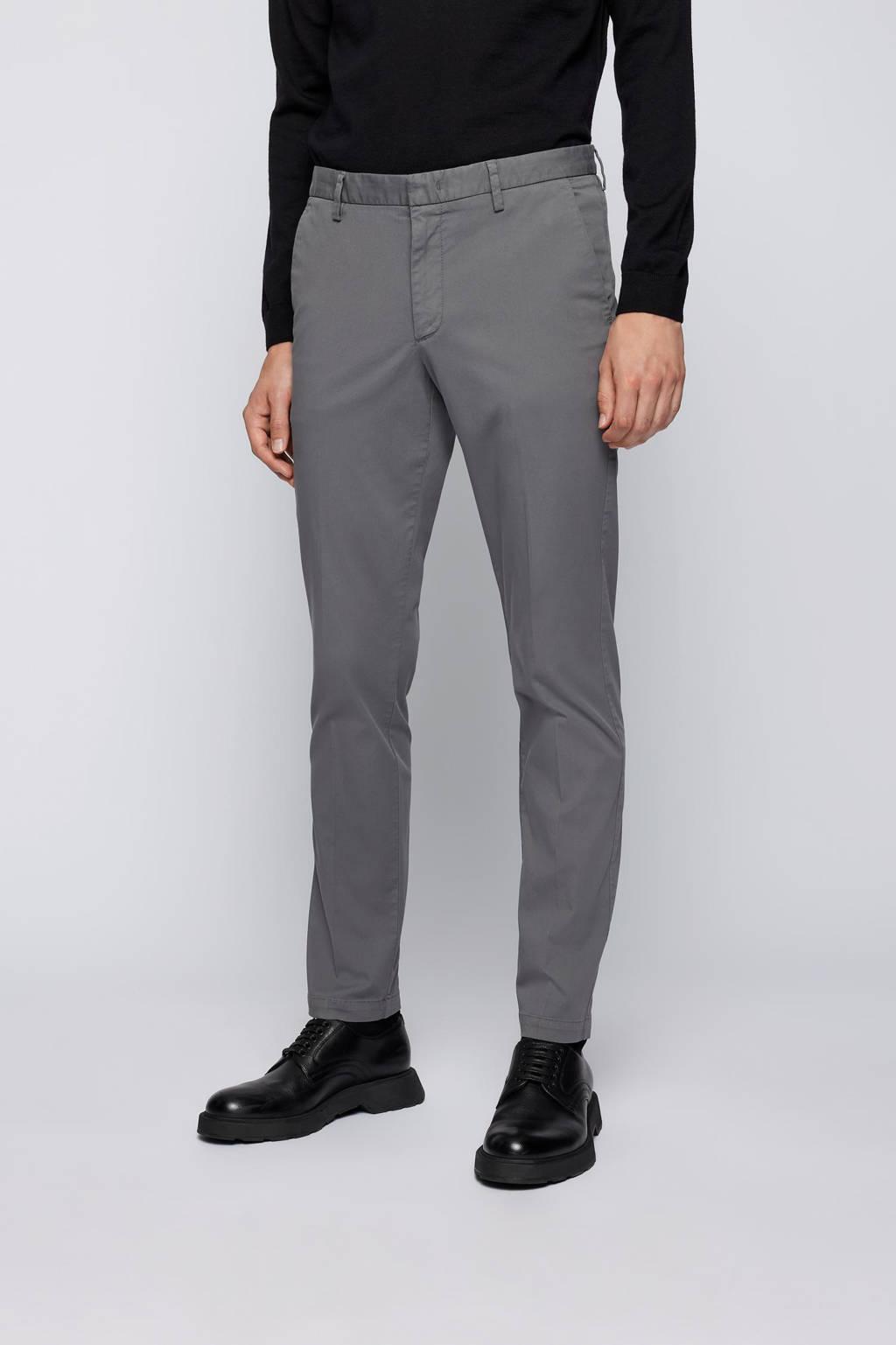 BOSS Menswear slim fit broek Kaito donkergrijs, Donkergrijs
