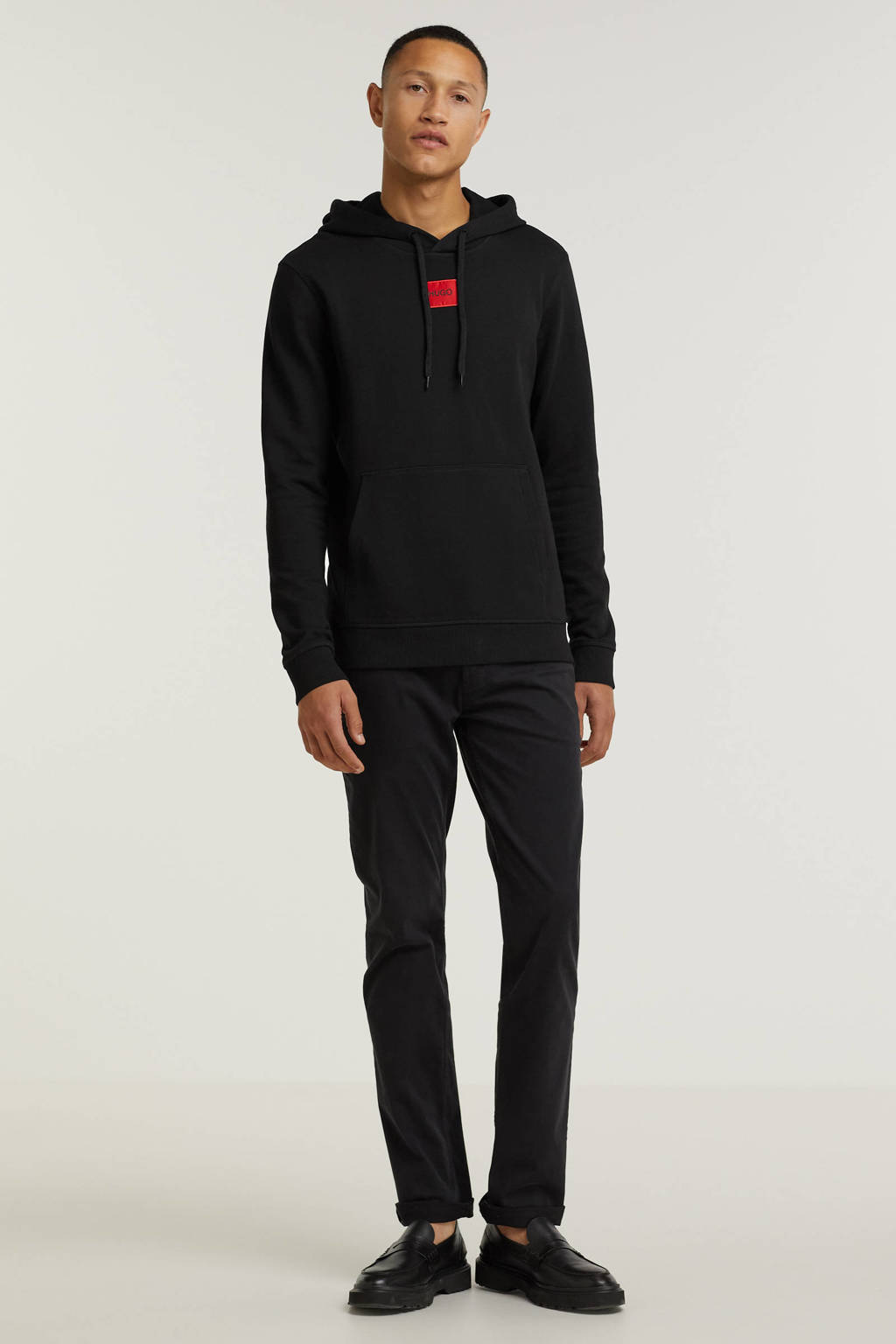 HUGO sweater Daratschi met logo zwart, Zwart