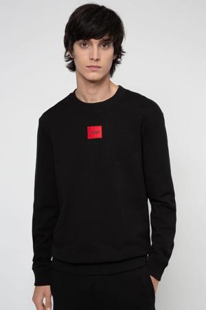 sweater Diragol met logo zwart