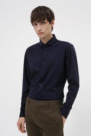super slim fit overhemd Erriko donkerblauw