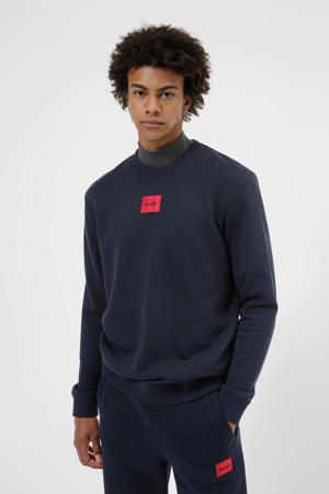 sweater Diragol met logo donkerblauw