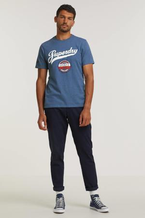 T-shirt met logo bif-rich blue marl