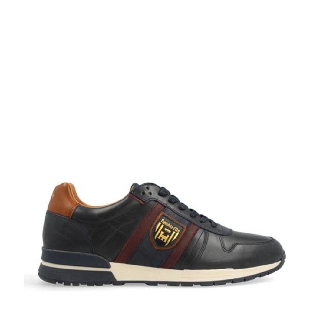 Pantofola d'Oro Sangano Uomo Low  leren sneakers blauw, Blauw