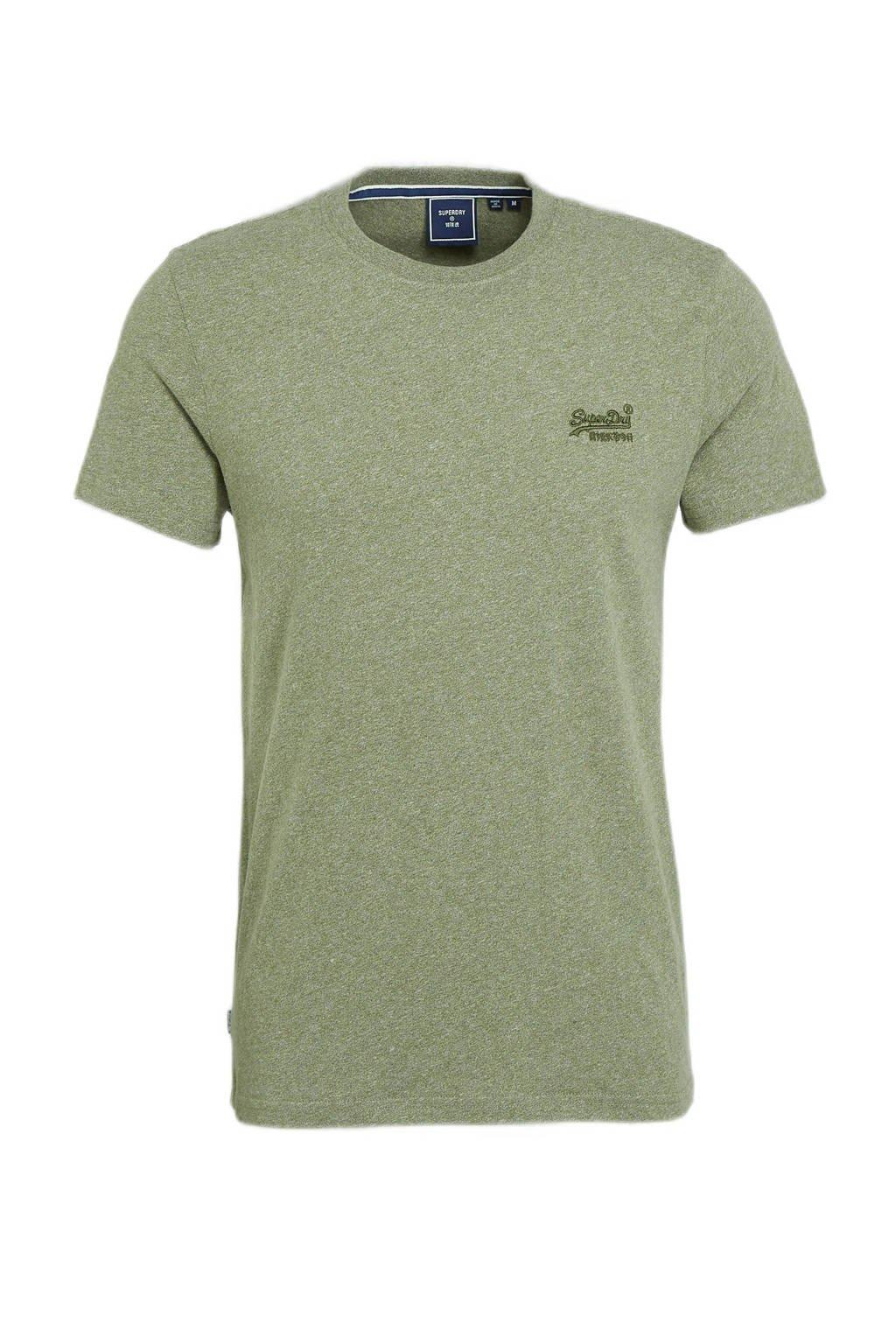 Superdry T-shirt olijfgroen, Olijfgroen