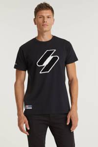 Superdry T-shirt met printopdruk zwart, Zwart