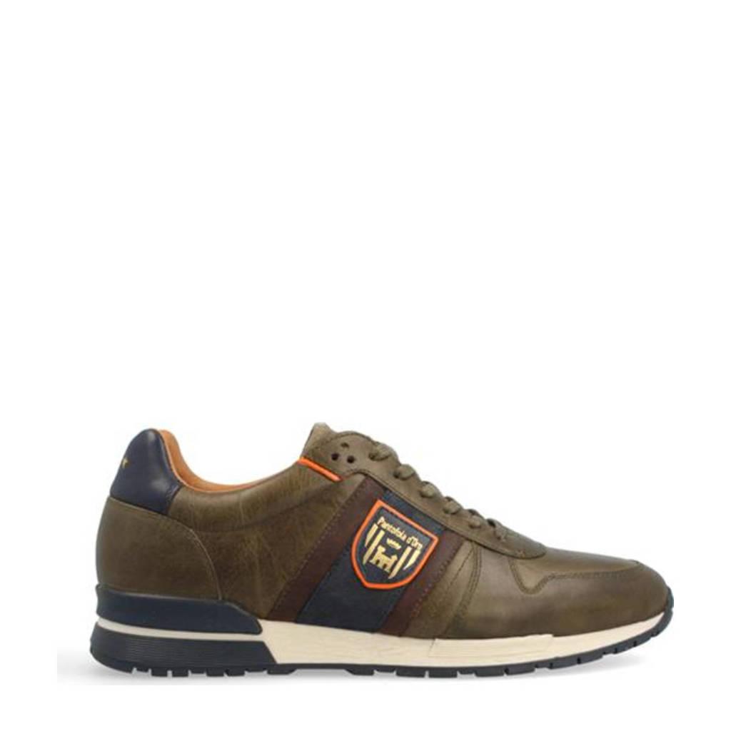 Pantofola d'Oro Sangano Uomo Low  leren sneakers olijfgroen, Olijfgroen