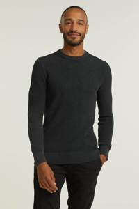 Superdry gebreide trui met textuur qs5-washed carbon black, QS5-Washed Carbon Black