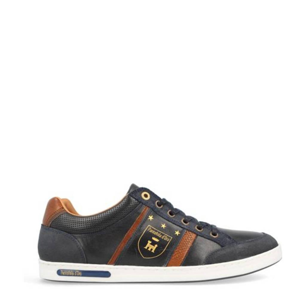 Pantofola d'Oro Mondovi Uomo Low  leren sneakers blauw, Blauw