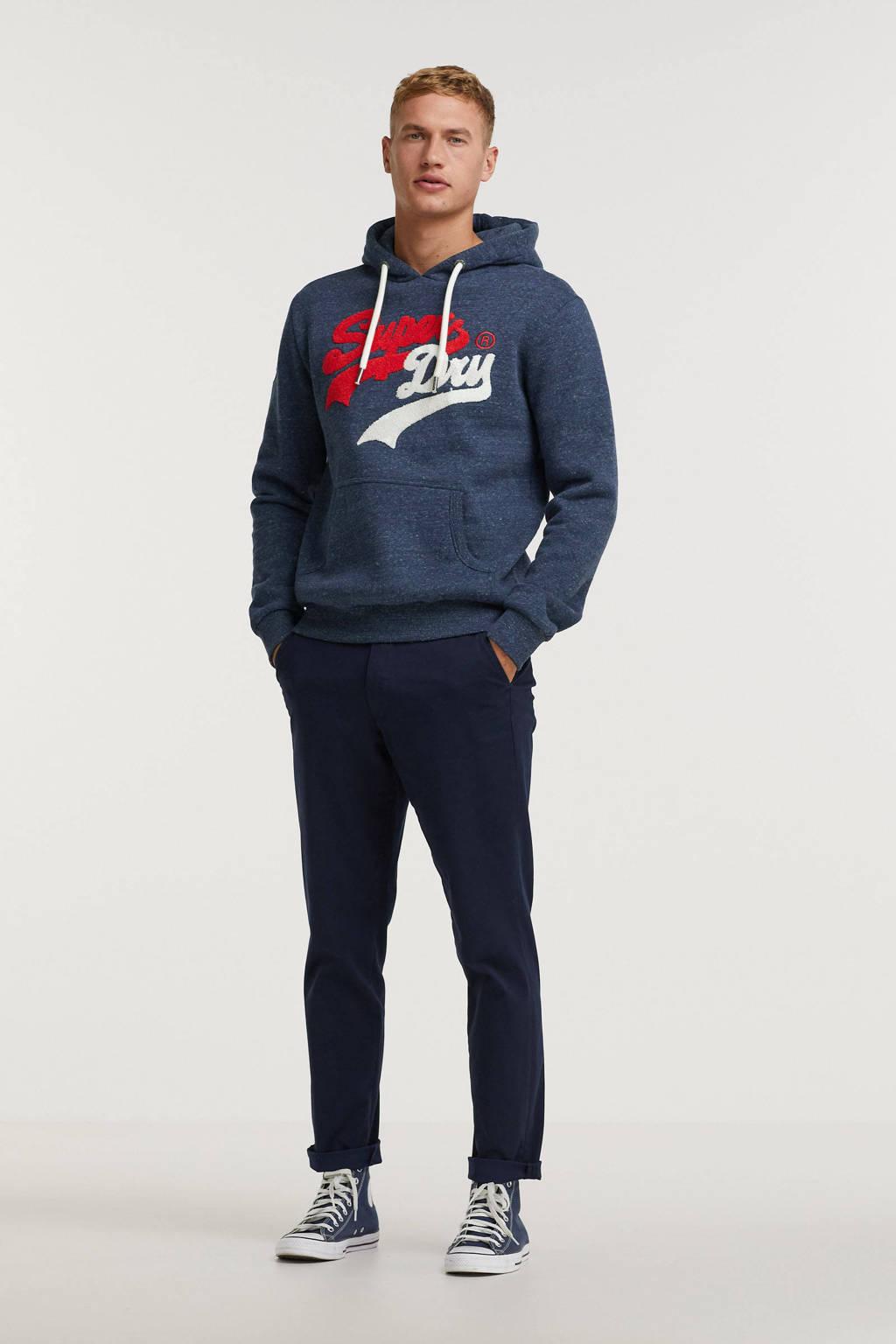 Superdry hoodie met logo 97t-navy marl, 97T-Navy Marl