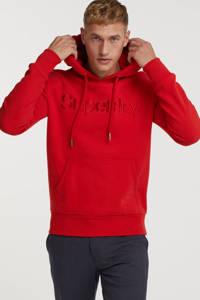 Superdry hoodie met logo 5ol-hike red, 5OL-Hike Red