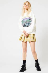 America Today sweater met printopdruk wit, Wit