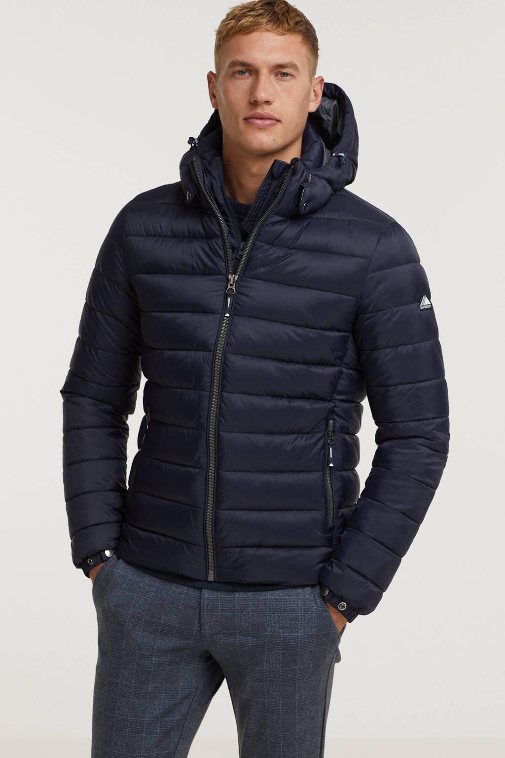 Superdry padded jas donkerblauw, Donkerblauw