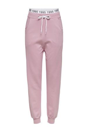 high waist loose fit broek Mila roze