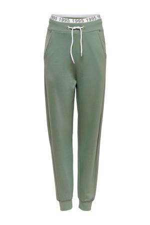 high waist loose fit broek Mila groen
