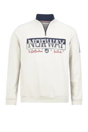 sweater EERO Plus Size met tekst ecru