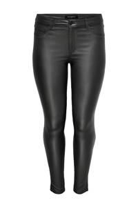 ONLY CARMAKOMA coated skinny broek CARPUNK zwart, Zwart