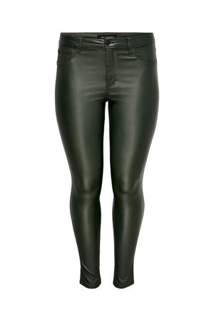coated skinny broek CARPUNK donkergroen