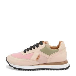 Lou  leren sneakers roze