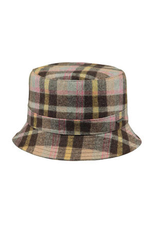 geruite bucket hat Breonna bruin