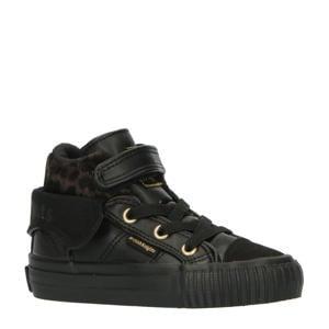Roco  sneakers met panterprint zwart