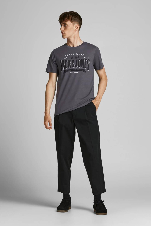 JACK & JONES ESSENTIALS slim fit T-shirt JJELOGO met logo asphalt, Asphalt