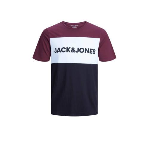 JACK & JONES ESSENTIALS T-shirt met logo port royale