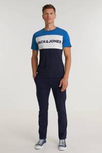 JACK & JONES ESSENTIALS slim fit T-shirt JJELOGO met logo classic blue