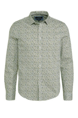 slim fit overhemd met all over print splitpeaboomerang