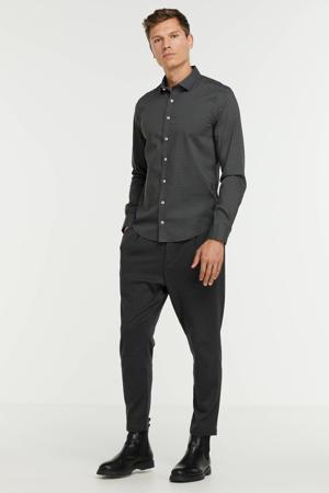 slim fit overhemd met all over print blackdiamonds