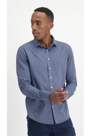 slim fit overhemd met all over print bluegoblets