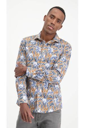 slim fit overhemd met all over print rubbermatisse